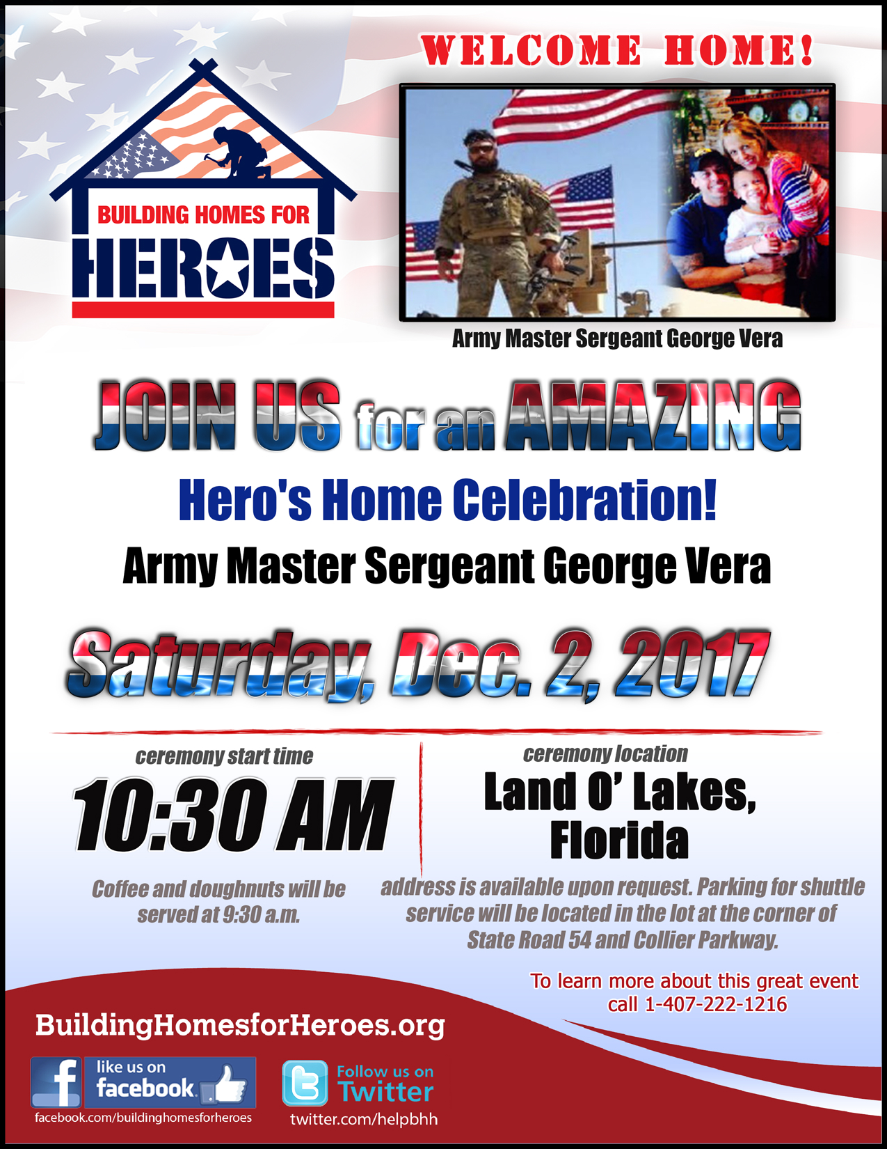 Building Homes For Heroes Welcome Home Ceremony South Shore Anglers